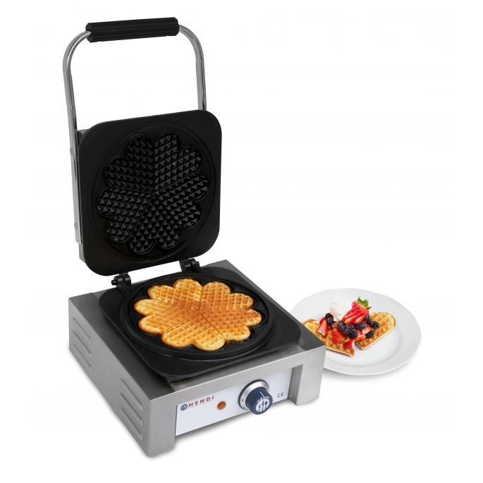 Aparat pentru vafe / waffles, 2200W, cu 5 placi in forma de inima, 32x43.7x(H)25.1 cm