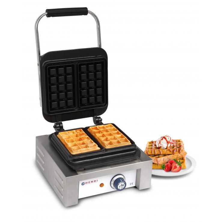 Aparat Brussels pentru vafe / waffles, 2200W, 2 placi dreptunghiulare 3x5 cm