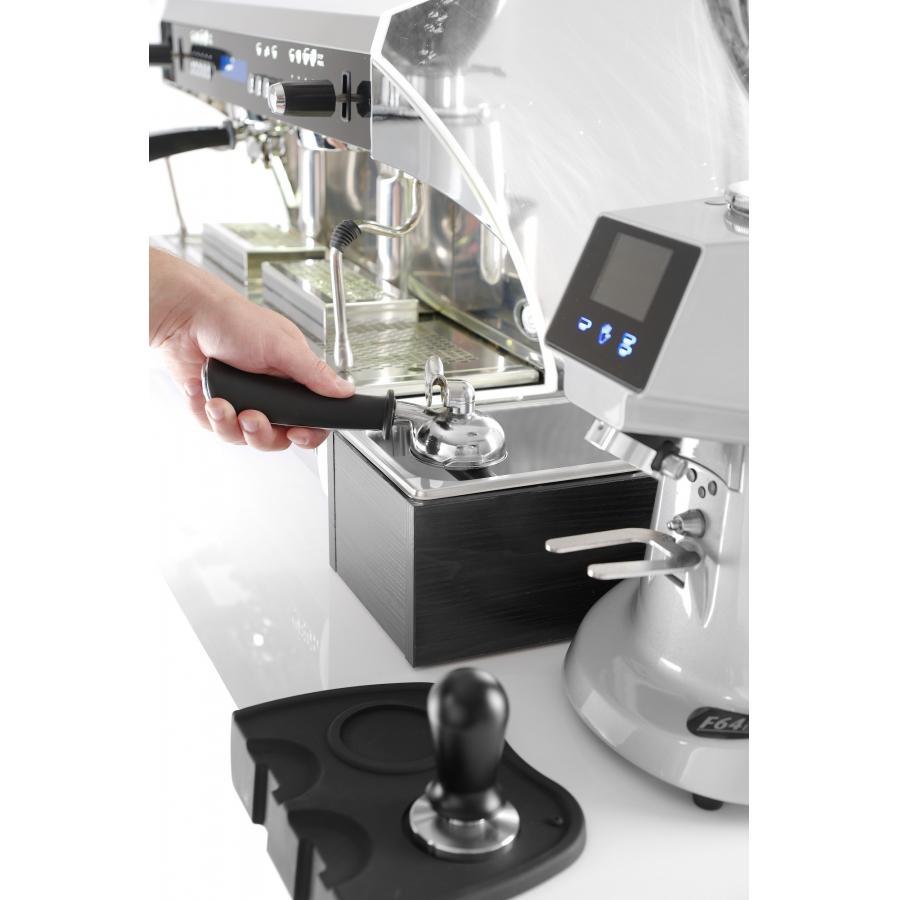 Recipient pentru zat cafea in cadru de lemn, otel inoxidabil, 275x175x(H)110 mm