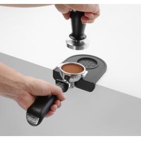 Suport presa cafea/ Suport tamper, 150x100x(H)45 mm, Negru, Silicon