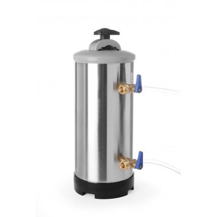Dedurizator apa presiunea maxima / minima a apei: de la 1 la 8 bari, ø185x(H)500 mm, capacitate, 12 l / 8,4 kg, otel inoxidabil