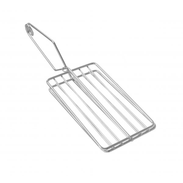 Gratar pentru toaster, otel inoxidabil, 10x34x(H)6.4 cm