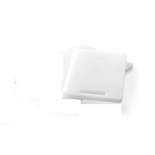 Tocator universal alb cu maner, 250x150x(H)10 mm, polietilena HDPE, potrivit si la uz profesional