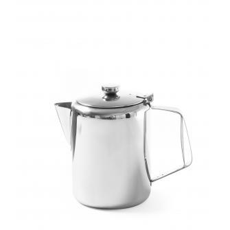 Cana inox ceai si cafea, capac rabatabil, capacitate 2 l
