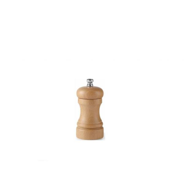 Rasnita sare, lemn culoare deschisa, (H) 10 cm, mecanism macinare ceramic