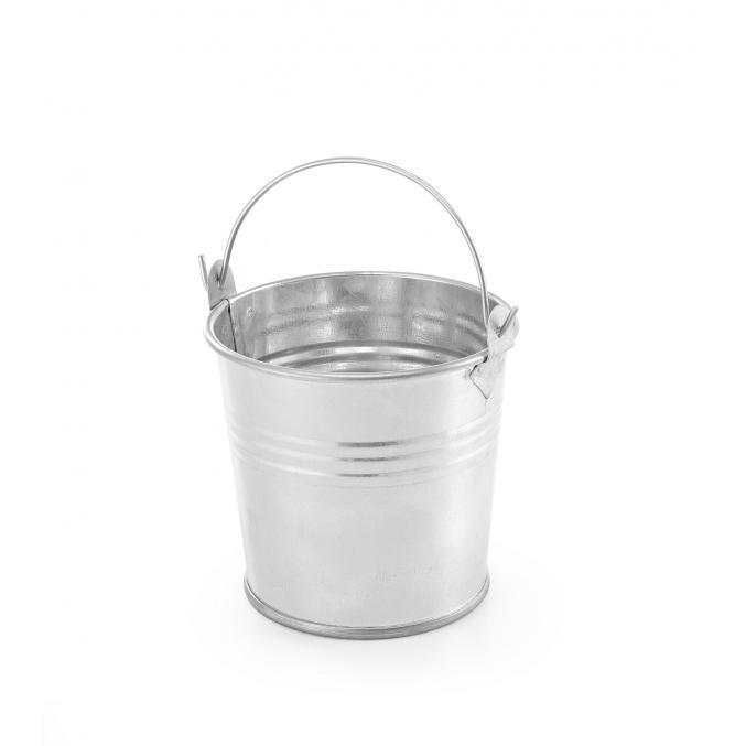 Cos servire rustic, tip galeata, otel galvanizat, ø70x(H)65