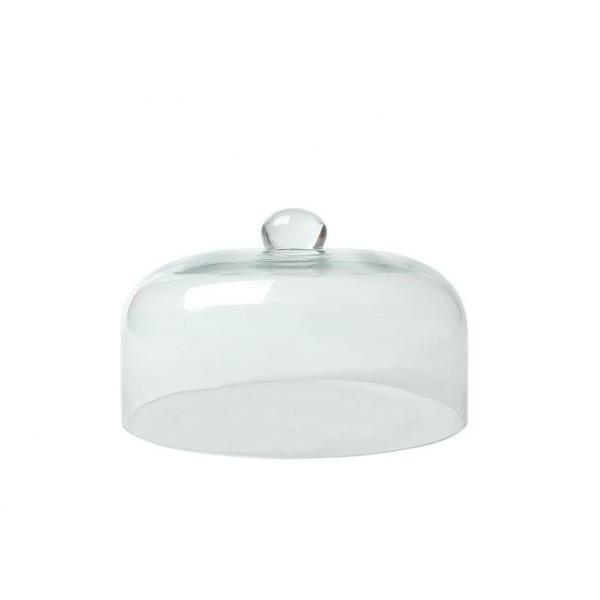 Cloche din sticla, ø24.5x(H)15 cm, poate fi utilizat in combinatie cu infuzorul de fum