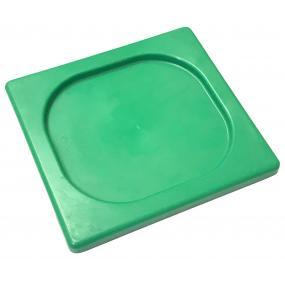 Capac tava Gastronorm GN 1/6 -176x162 mm, polipropilena verde