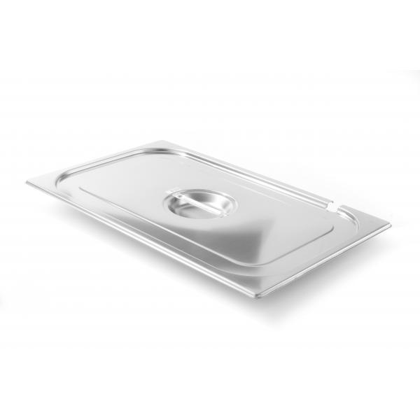 Capac Gastronorm cu fanta lingura servire GN 1/1 - gama Kitchen Line, otel inoxidabil