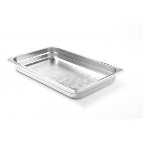 Tava perforata Gastronorm GN 1/1, adancime 40 mm, 5.3 lt, inox, gama Profi Line, grosime perete inox 0.8 mm