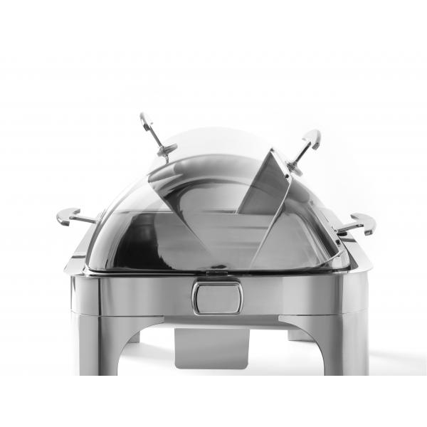Chafing dish cu capac rolltop, GN 1/1, 9 litri, include 2 suporturi combustibil si vas GN 1/1 - 65 mm