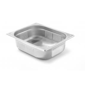 Tava perforata Gastronorm GN 1/2 100 mm 5.6 lt - gama Kitchen Line, otel inoxidabil
