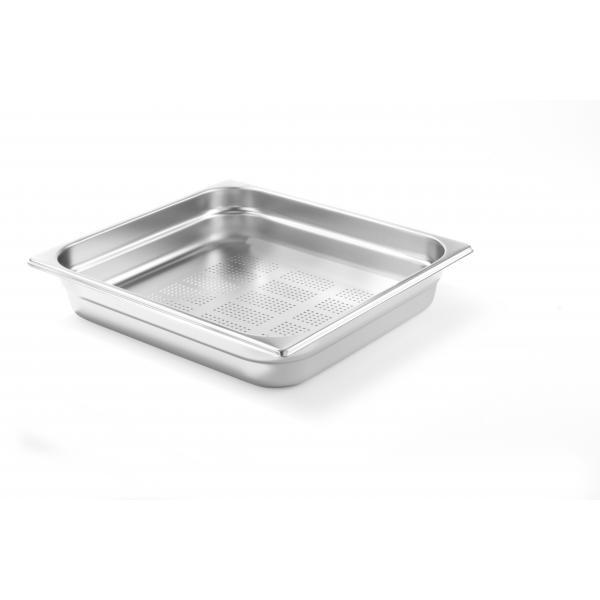 Tava perforata Gastronorm GN 1/2 65 mm 3.6 lt - gama Profi Line, otel inoxidabil