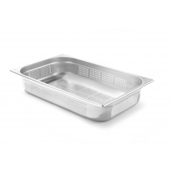 Tava perforata Gastronorm GN 1/1, 530x325x(H)100 mm ,13.2 lt, inox, Kitchen Line