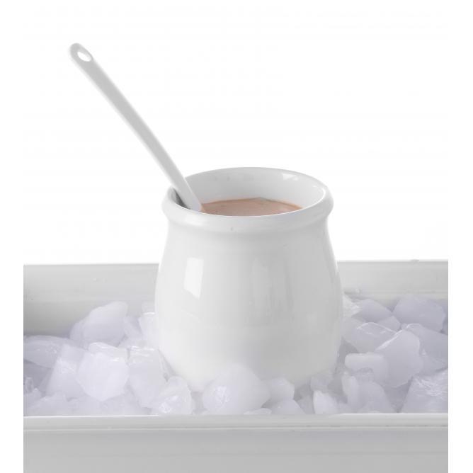 Vas dressing 125 ml, portelan termorezistent, alb stralucitor