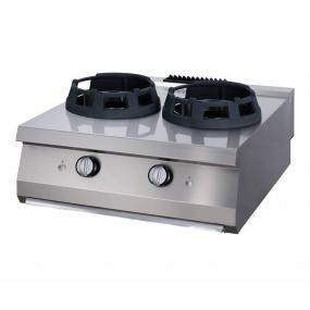 Aragaz profesional pe gaz cu 2 arzatoare tip wok - seria 700