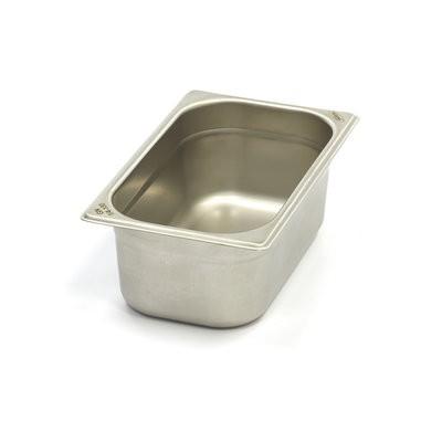 Vascheta gastronom din otel inoxidabil 1/4 GN, 100 mm, 265x162 mm