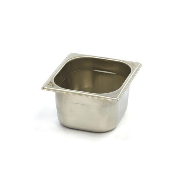 Vascheta gastronom din otel inoxidabil 1/6 GN, 100 mm, 176x162 mm