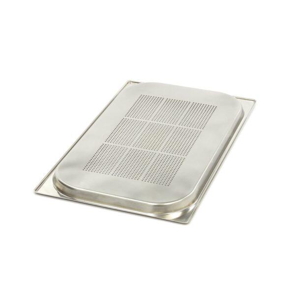 Vascheta gastronom perforata din otel inoxidabil 1/1 GN, 20 mm, 530x325 mm