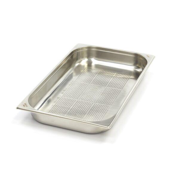 Vascheta gastronom perforata din otel inoxidabil 1/1 GN, 65 mm, 530x325 mm