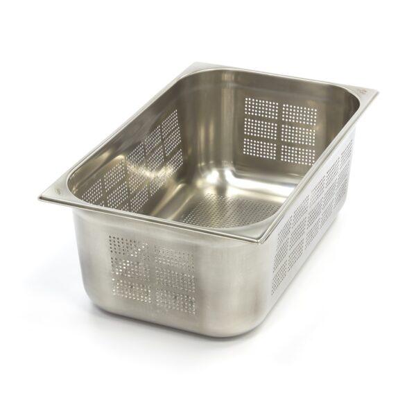 Vascheta gastronom perforata din otel inoxidabil 1/1 GN, 200 mm, 530x325 mm