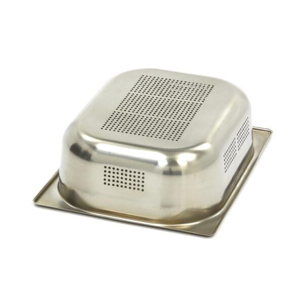 ascheta gastronom perforata din otel inoxidabil 1/2 GN, 100 mm, 325x265 mm