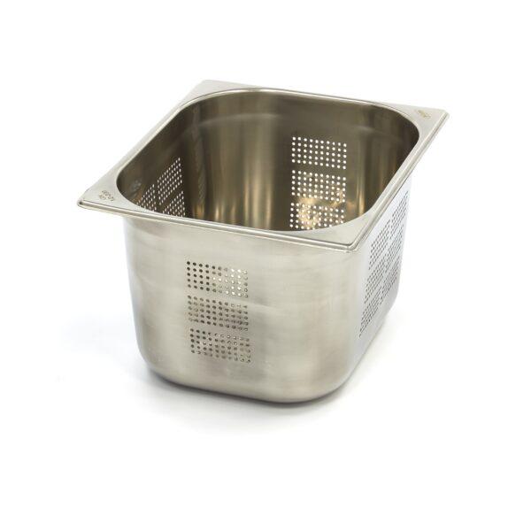 Vascheta gastronom perforata din otel inoxidabil 1/2 GN, 200 mm, 325x265 mm