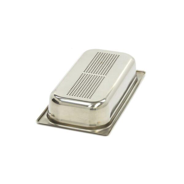 Vascheta gastronom perforata din otel inoxidabil 1/3 GN, 65mm, 325x176 mm