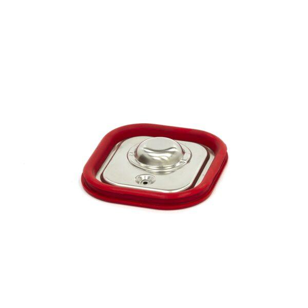 Capac gastronom cu banda siliconata 1/6 GN, 176 x 162 mm