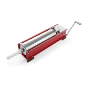 Aparat profesional umplut carnati orizontal, capacitate 10 lt, 2 viteze umplere, corp inox, 4 palnii incluse, 74x41x(H)22 cm